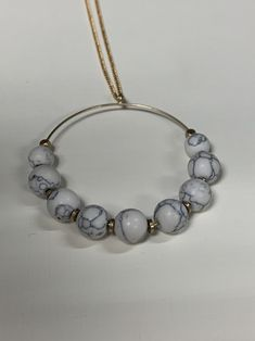 JustBeadItByDrue Gold Necklace Geometric Resin Drop Pendant Boho Jewelry