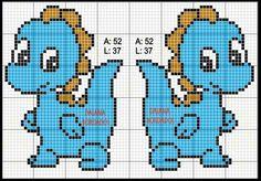 cross stitch of animals Unicorn Cross Stitch Pattern, Baby Cross Stitch Patterns, Cross Stitch For Kids, Cross Stitch Charts, Cross Stitch Designs, Stitching On Paper, Cross Stitching, Cross Stitch Embroidery, Dragon Cross Stitch