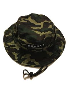 BOX LOGO BUCKET HAT - GREEN CAMO