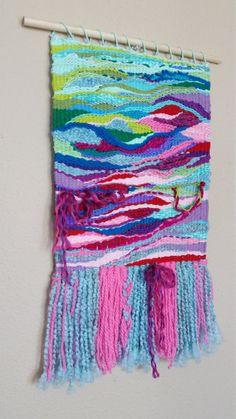 Hand-Woven Wall Hanging by DianesMixedMediaArt on Etsy Weaving Wall Hanging, Weaving Art, Tapestry Weaving, Loom Weaving, Tapestry Wall Hanging, Hand Weaving, Couture, Fiber Art, Knit Crochet