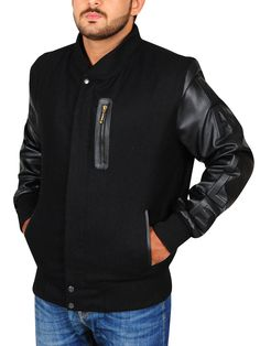 Michael B. Michael B Jordan, Black Bomber Jacket, Knitting Designs, Rib Knit, Jordans, Celebs, Sleeves, Jackets, Celebrity