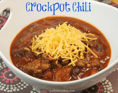 Quick and Easy Crockpot Chili