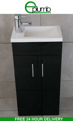 Bathroom Sink 500 X 400 zola high gloss black square basin wall hung bathroom furniture