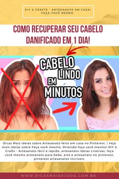 Como RECUPERAR seu Cabelo DANIFICADO em 1 DIA! #DicasMaisAjuda #diy #cabelos