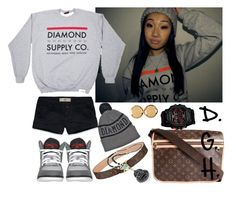 """Diamond Supply CO."" by dopegenhope ❤ liked on Polyvore featuring Hollister Co., Louis Vuitton, Diamond Supply Co., Paul Brodie, Casio and H&M"