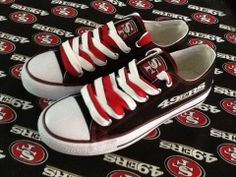 SAN FRANCISCO 49ers WOMANS Tennis Shoes just if they had it in men's