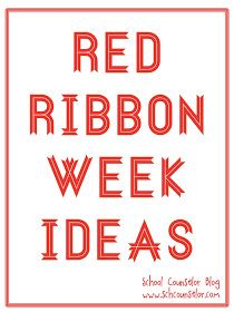 School Counselors are often in charge of coordinating Red Ribbon Week at their school. Check out the links below for Red Ribbon Week theme. Counselor Office, High School Counseling, Elementary School Counselor, School Social Work, Elementary Schools, Career Counseling, Student Leadership, Leadership Tips, Drug Free Week