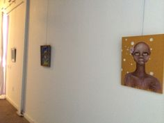 First #exhibit for our #GrandOpening event with pieces by #SpencerMeyers