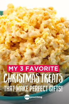 Get the recipes for 3 of our favorite Christmas treats. They make perfect gifts for friends and family, or perfect snacks to keep for yourself!