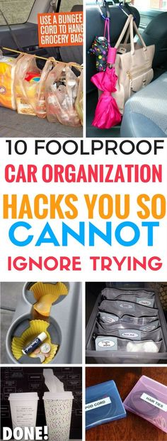 10 Car Organization Hacks You Absolutely Cannot Ignore Trying - This is the BEST car organization hacks that I've found. They actually WORK. I'm amazed!