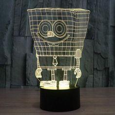 Sponge Bob Colorful 3D LED Lamp-GoAmiroo Store