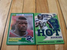 2013 Score Christine Michael RC Lot of 2 Rookie Cards Hot Rookies Insert Base   eBay