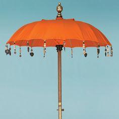 Tangerine Orange Bistro umbrella from the Indian Garden Company. The prefect bistro umbrella!