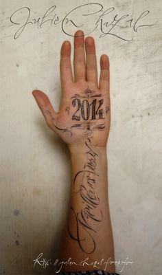 Vœux-2014 - Julien Chazal, calligraphe