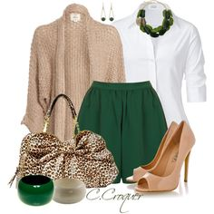 Forest Green+Leopard, created by ccroquer on Polyvore