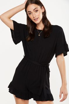 Woven Fay Crew Playsuit