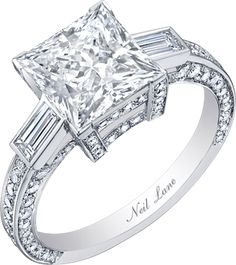 Neil Lane classic princess cut diamond and platinum ring, R05701... yep.
