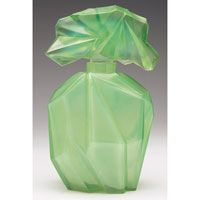 Consolidated Glass Green Ruba Rombic Decanter