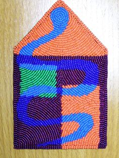 Snake House. Bead embroidery by Jennifer Whitten.