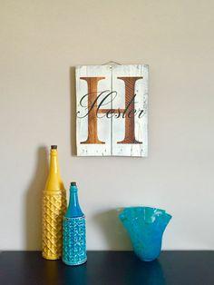 Personalisierte letzte Name Login / / aufgearbeiteten Holz Wandkunst / / Paletten Holz Schild / / personalisierte hölzerne Schilder / / aufgearbeiteten Holz Schild