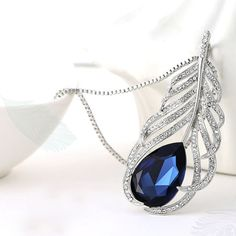 Find More Pendant Necklaces Information about Hot new retro crystal feather long sweater chain Korean fashion clothing accessories,High Quality accessories web,China accessories free Suppliers, Cheap accessories definition from Mc Ornaments on Aliexpress.com