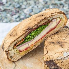 A proper Pressed Picnic Sandwich - this sandwich is a MONSTER!!! So much good flavour adn it actually tastes better after a few hours in a cooler, unlike regular sandwiches!  ~ The Hedgecombers