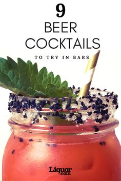9 Beer Cocktails to Drink in Bars Right Now! Brew + booze = yes! Easy Alcoholic Drinks, Alcholic Drinks, Yummy Drinks, Cocktail Shots, Cocktail Garnish, Cocktail Menu, Beer Cocktail Recipes, Beer Recipes, Cocktails To Try