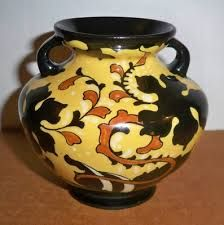 Early Art Nouveau Gouda Holland Regina / Robur Art Pottery Vase