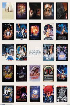 Poster:  Star Wars - one sheet collage online te koop. Bestel je poster, je 3d filmposter of soortgelijk product  Maxi Poster