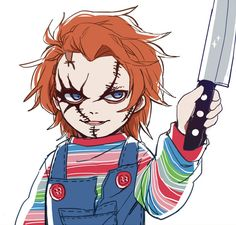 Read Chucky from the story Slasher,Peliculas,videojuegos y libros de horror is the type. Chucky Horror Movie, Chucky Movies, All Horror Movies, Horror Movie Characters, Horror Show, Horror Films, Horror Art, Childs Play Chucky, Slasher Movies