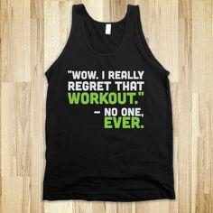 motivating work out shirt