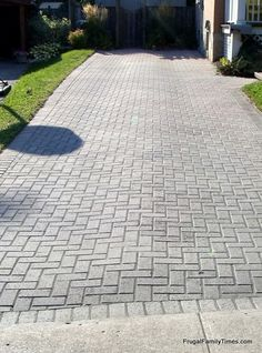 Frugal Family Times: How to Make a Weed-free Brick Driveway (that Stays that way!)