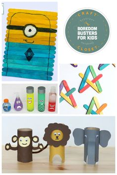 Craft Closet Boredom Busters!! 25+ Crafts and Activities for Kids Using Everyday Materials