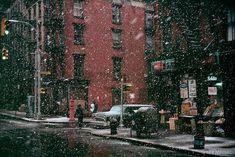First Snow, Elizabeth Street by Jay Maisel