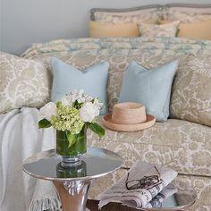 Feminine Interiors. A feminine touch... love the decor! #Bedroom #Feminine #Interiors