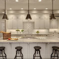 White Kitchen Cabinets Granite Countertops Design Ideas, Pictures, Remodel, and Decor - page 2