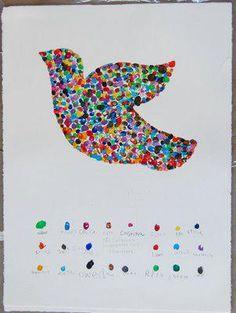 Fingerprint Peace Dove for MLK Day