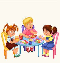 Classmates having lunch in dining room Royalty Free Vector Preschool Letter Crafts, Letter A Crafts, 1st Day Of School, Pre School, Diner Table, Book Cafe, Rainbow Crafts, Classroom Rules, Cartoon Images