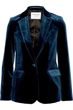 Midnight-blue velvet Button fastening at front 80% cotton, 18% Lyocell, 2%…