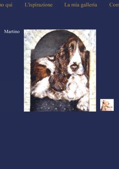 """From my old site,""""Martino"""" #spaniel painting lucillabollati.com"""