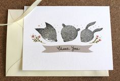 All sizes | Thank You Notecards Set - Whimsical Fox, Bear and Rabbit | Flickr - Photo Sharing!