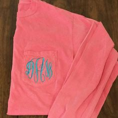 Monogrammed Comfort Colors Pocket Tee by The Initialed Life