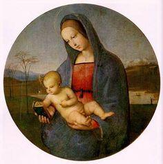 "Raphael (Raffaello Sanzio) -- ""Madonna and Child (Madonna Conestabile)"" -- tempera on canvas, 1504. The State Hermitage Museum, Saint Petersburg, Russia."