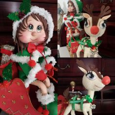 Elfa, Reno, Elf On The Shelf, Textiles, Christmas Ornaments, Disney Princess, Holiday Decor, Disney Characters, Crafts