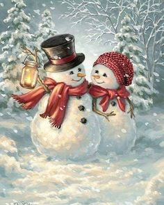 Winter /Weihnachten/Neujahr Winter / Christmas / New Year Year Christmas Snowman, Christmas Time, Christmas Crafts, Merry Christmas, Christmas Decorations, Christmas Ornaments, Winter Christmas Scenes, Vintage Christmas Cards, Christmas Pictures