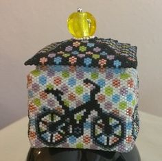 Bicycle Beaded Box by NewEnglandGalleria on Etsy https://www.etsy.com/listing/201872207/bicycle-beaded-box