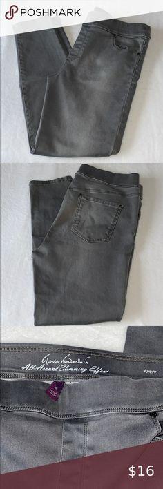 Gloria Vanderbilt® Stefania Womens Pink Roll Crop Twill Pants 12 14 16 NWT $48