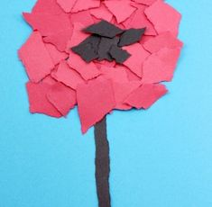 Torn Poppy Craft Torn Flower Craft ~ Veteran's Day or Remembrance Day Poppy for Kids Remembrance Day Activities, Veterans Day Activities, Remembrance Day Poppy, Holiday Activities, Art Activities, Poppy Craft For Kids, Art For Kids, Paper Plate Poppy Craft, Peace Crafts