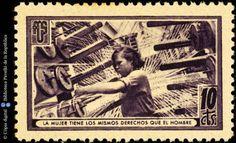 Temes-Asociación de Amigos de la Unión Soviética :: Segells del Pavelló de la República (Universitat de Barcelona) Vintage World Maps, Barcelona, War, Baseball Cards, Movie Posters, Balearic Islands, Spanish, Stamps, Girlfriends
