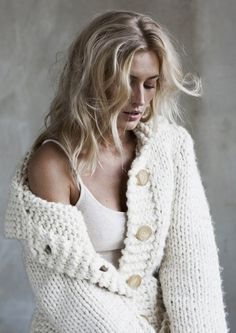 winter white ....anything nordic would look so cute with this...hot sweater, over tone on tone simple shelf cami...this is wear I mean inner sexy can take chunky winter white to I don't need a red Valentino backless dress to impress. (though that would be nice too)